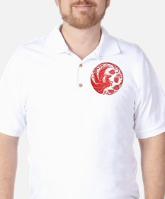 Traditional Red Phoenix Circle Golf Shirt