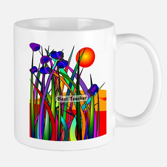 Best Teacher Artsy Large Mugs