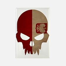 Polish Flag Skull Rectangle Magnet