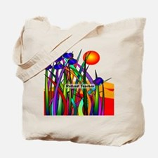 Retired Teacher Artsy Plants LARGE Tote Bag
