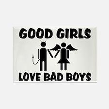 Good Girls Love Bad Boys Rectangle Magnet