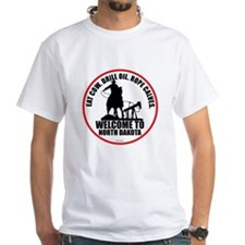 North Dakota Calf Roper Round T-Shirt
