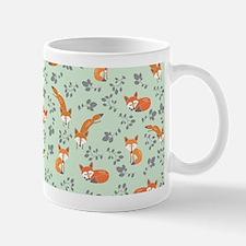 Foxy Floral Print Mugs