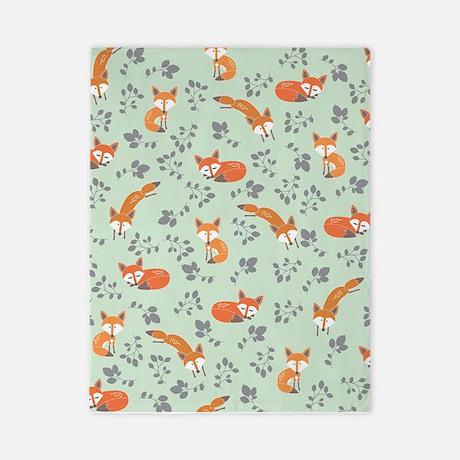 Foxy Floral Print Twin Duvet