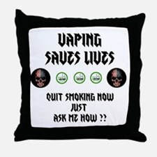 Vape to live Live to Vape Throw Pillow