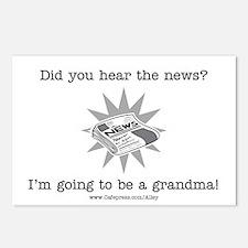 Grandma News Postcards (Package of 8)