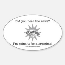 Grandma News Oval Decal