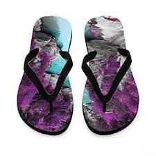 Purple Cliffs Flip Flops