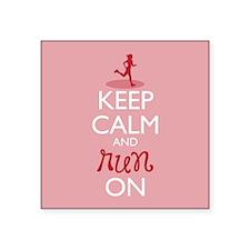 Keep Calm and Run On Sticker