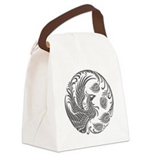 Traditional Dark Phoenix Circle Canvas Lunch Bag