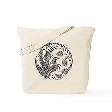 Traditional Dark Phoenix Circle Tote Bag