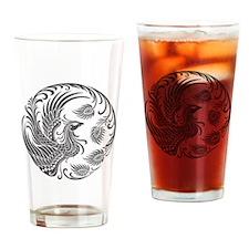 Traditional Dark Phoenix Circle Drinking Glass