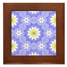 Lavender Blue Framed Tile
