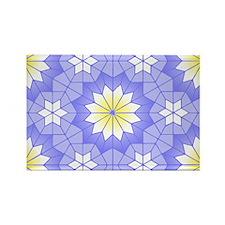 Lavender Blue Rectangle Magnet