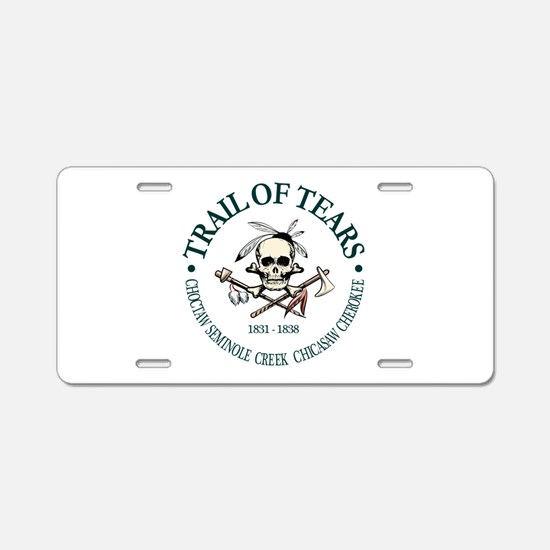 Trail of Tears Aluminum License Plate