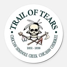 Trail of Tears Round Car Magnet
