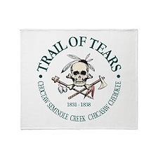 Trail of Tears Throw Blanket
