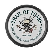 Trail of Tears Large Wall Clock