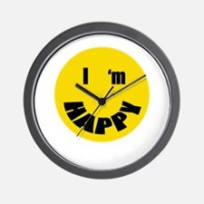 I'm Happy Wall Clock