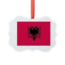 albanian flag Ornament