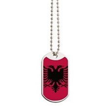 albanian flag Dog Tags