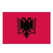 albanian flag Postcards (Package of 8)