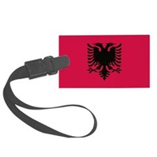 albanian flag Luggage Tag