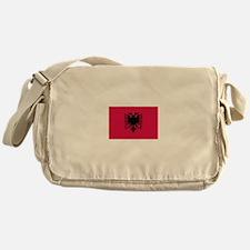 albanian flag Messenger Bag