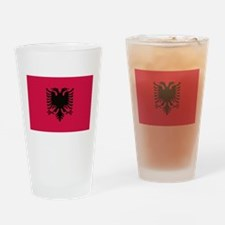 albanian flag Drinking Glass