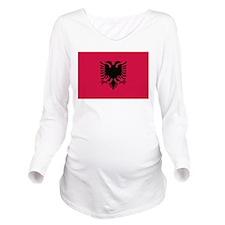 albanian flag Long Sleeve Maternity T-Shirt