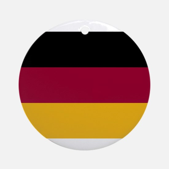 German Flag Gifts Ornament (Round)