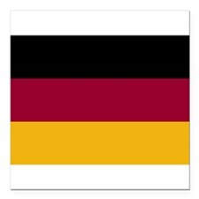 """German Flag Gifts Square Car Magnet 3"""" x 3"""""""