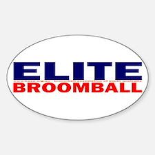 Elite Broomball Oval Stickers