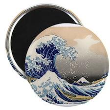 hokusai great wave Magnets