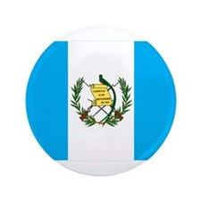 """guatemalan Flag gifts 3.5"""" Button"""