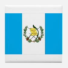guatemalan Flag gifts Tile Coaster