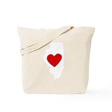 Illinois Heart Tote Bag