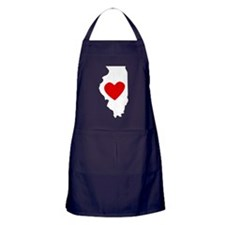 Illinois Heart Apron (dark)