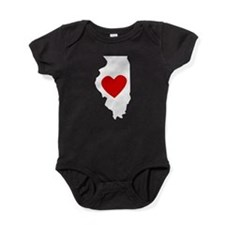 Illinois Heart Baby Bodysuit