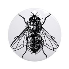 Funny Insect Round Ornament