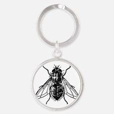 Cute Insect Round Keychain