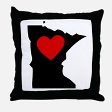 Minnesota Heart Throw Pillow
