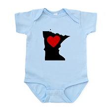 Minnesota Heart Body Suit