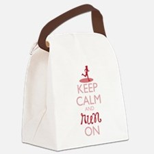 Keep Calm and Run On Canvas Lunch Bag