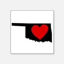 Oklahoma Heart Sticker