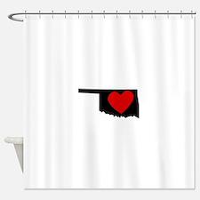 Oklahoma Heart Shower Curtain