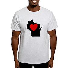 Wisconsin Heart T-Shirt