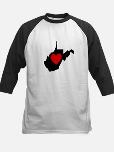 West Virginia Heart Baseball Jersey