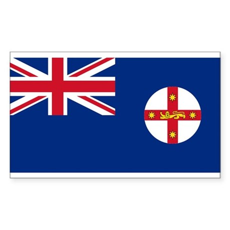 New South Wales Rectangle Sticker