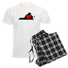 Virginia Heart Pajamas